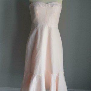 $168 Tall Strapless Ruffle-Hem Dress Faille G4601